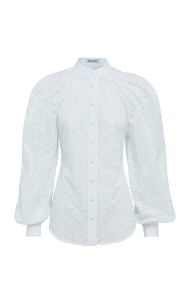 Mira Broderie Button-Up Top