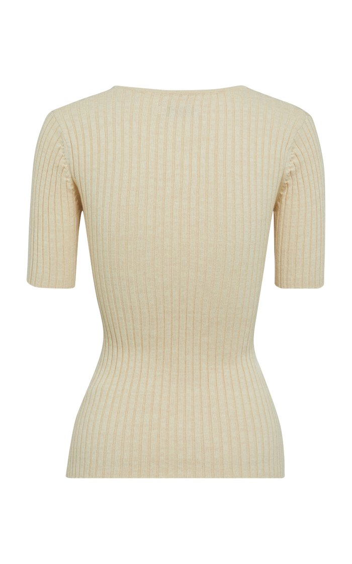 Ary Cotton Ribbed-Knit Top
