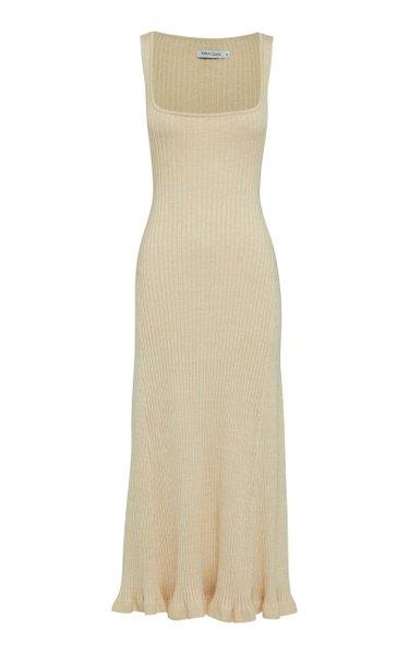 Dido Cotton Ribbed-Knit Dress