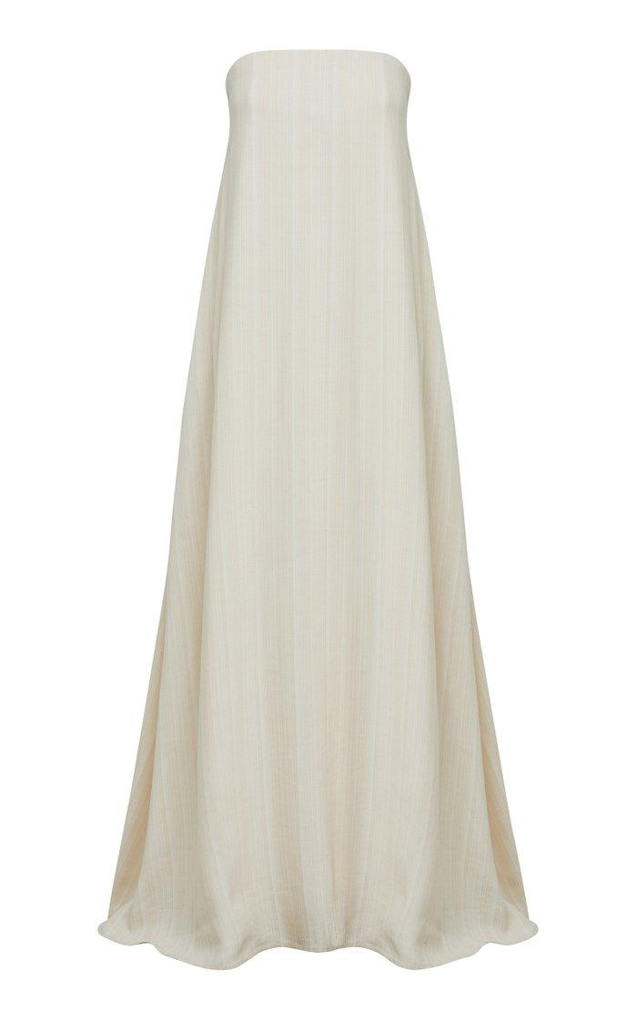 Delfina Crepe Strapless Dress