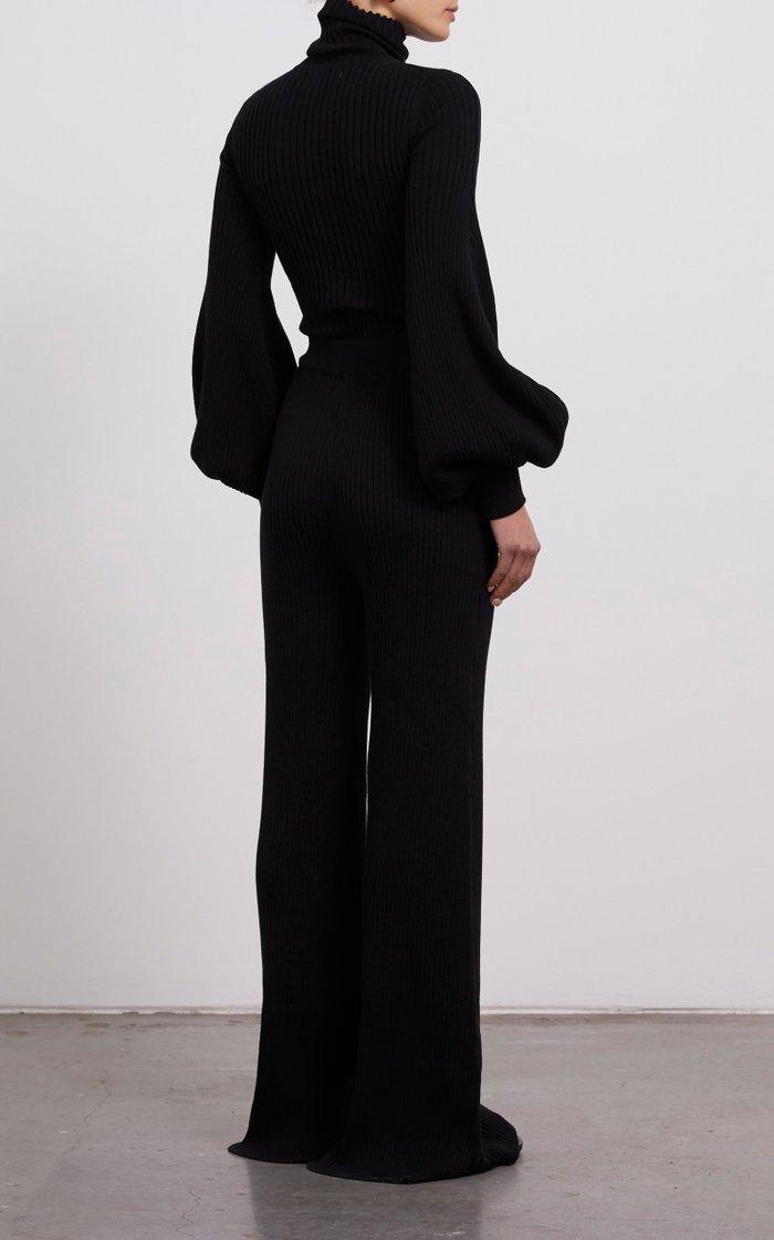 Yara Cotton Ribbed-Knit Sweater