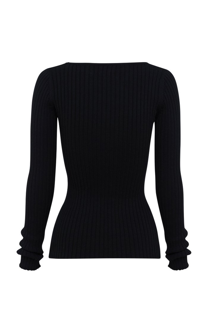 Mia Cotton Ribbed-Knit Top