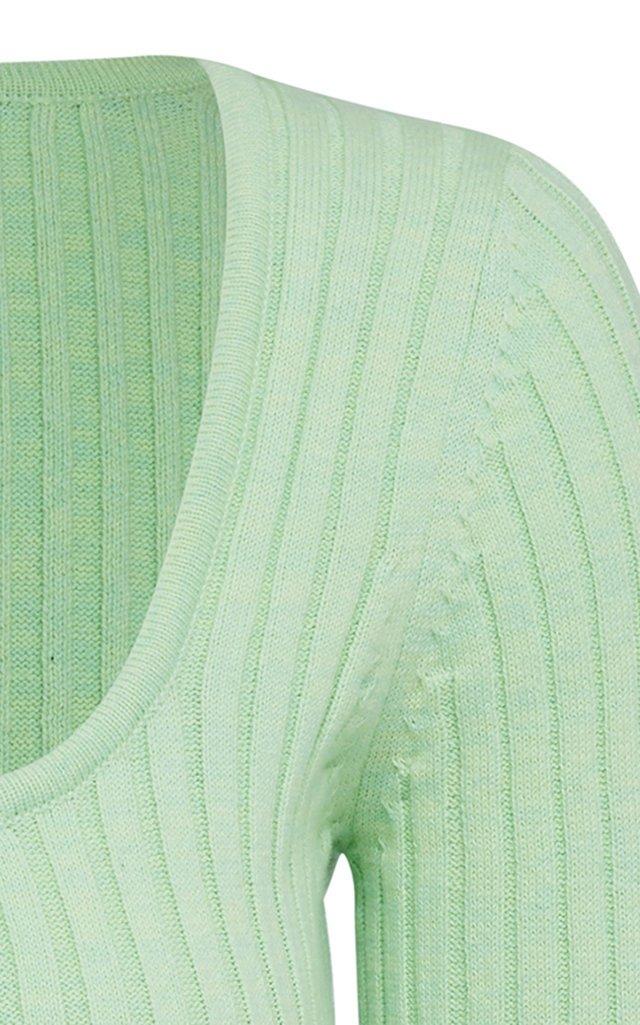 Mia Cotton Ribbed-Knit Top