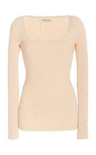 Mia Ribbed-Knit Cotton Top