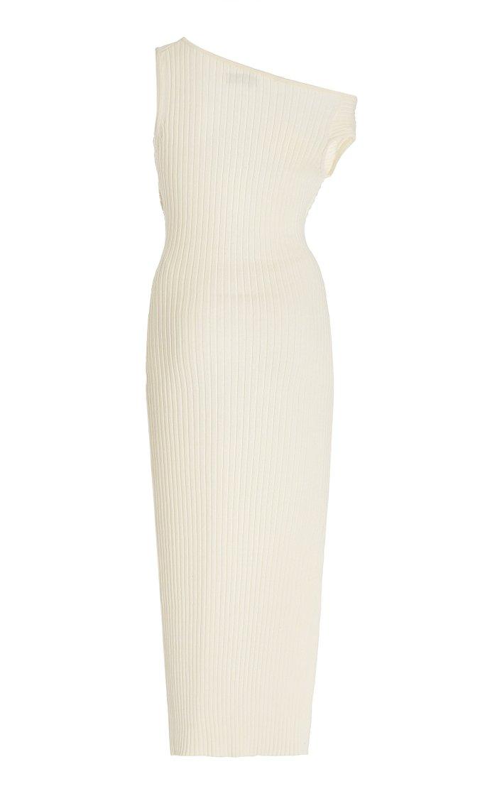 Zanita Cotton Ribbed-Knit Dress