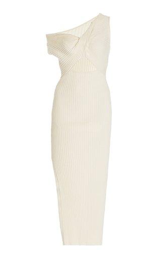 Zanita Ribbed-Knit Cotton Dress