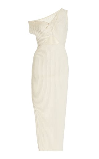 Zanita Ribbed-Knit Cotton Dress