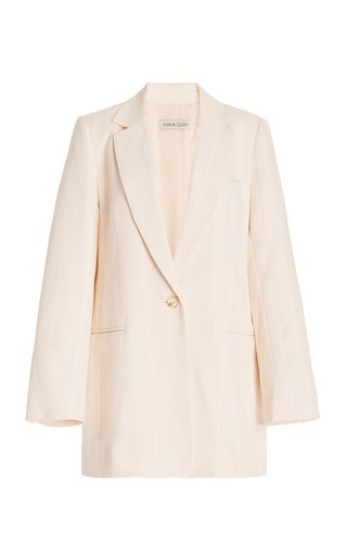 Gianna Long Twill Blazer