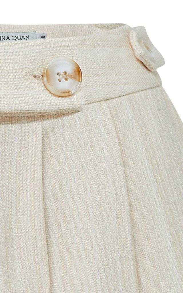 Vita Pleated Twill Shorts