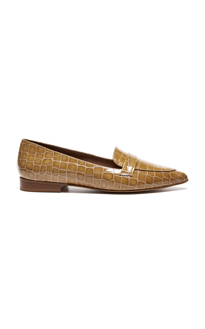 Alexandra Embossed Leather Loafers