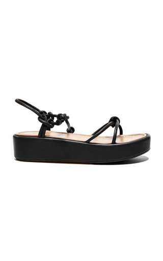 Heather Leather Platform Sandals