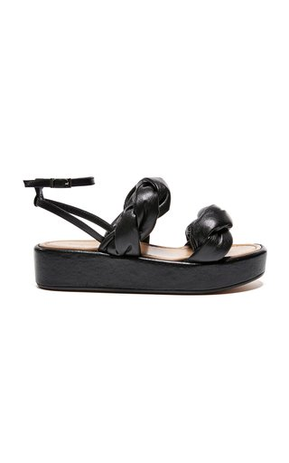 Haven Platform Leather Sandals