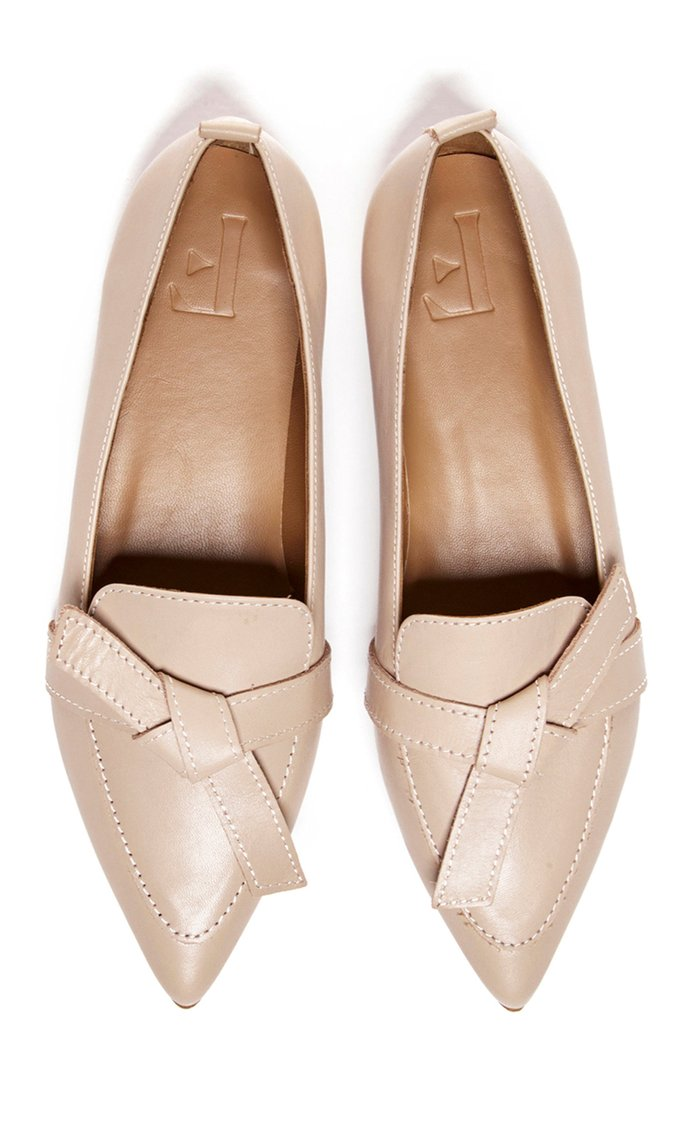 Ally Embellished Leather Loafers