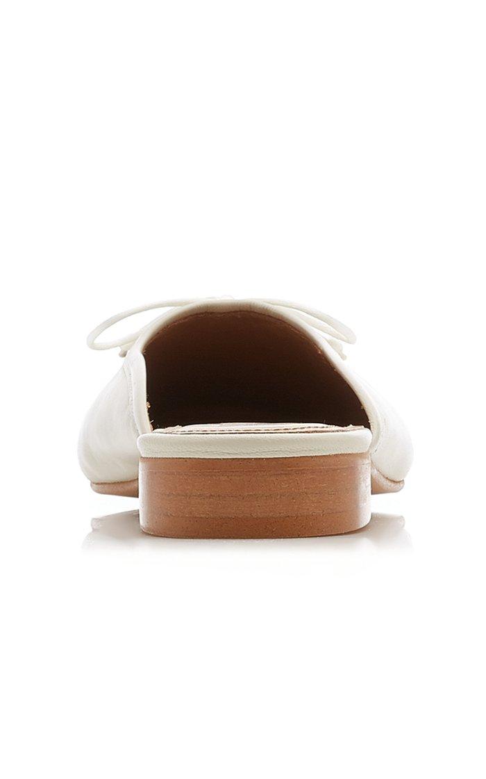 Malva Leather Slides
