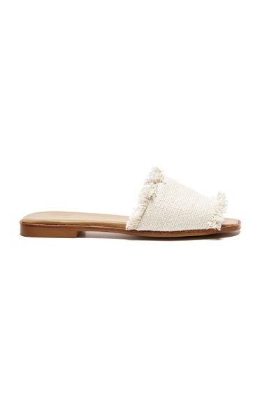 Melissa Canvas and Leather Slides