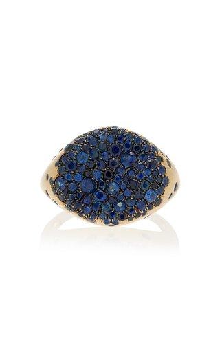 Baby Malak 18k Gold Blue Sapphire Ring