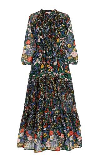 Bazaar Floral Cotton Midi Dress