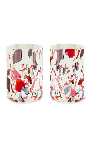 Set Of 2 Nougat Autumn Hex Glasses