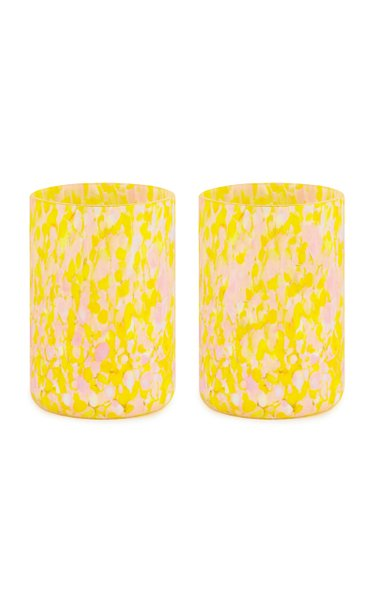 Set Of Msm 2 Yellow & Pink Glasses
