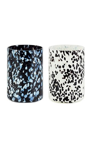 Set Of 2 Black & White + Dalmata Glasses