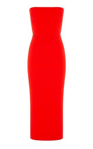 Callan Stretch Crepe Strapless Dress