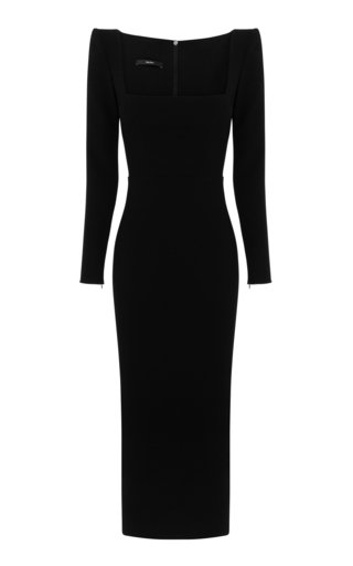 Baird Stretch Crepe Portrait Dress