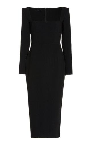 Baird Stretch Crepe Portrait Dress