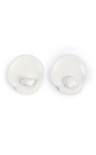 Venere Set Of 2 Shell 3D Dessert Plates