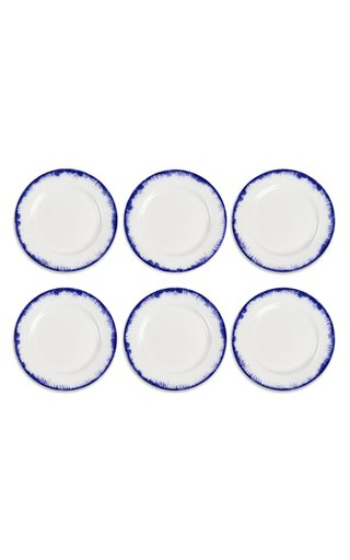 Eclipse Set Of 6 Blue Plain Plates