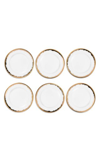 Eclipse Set Of 6 Gold Plain Plates