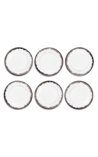 Eclipse Set Of 6 Platinum Plain Plates