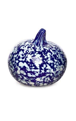 Macchia Su Macchia Blue & Ivory Apple Paperweight