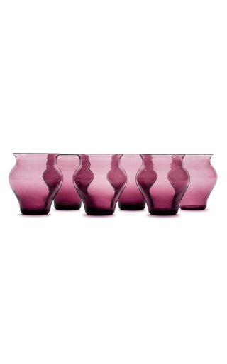 Anfora Set Of 6 Amethyst Glasses