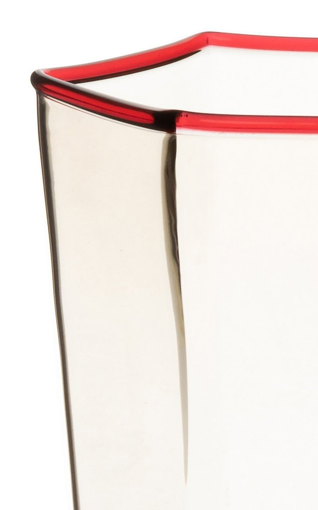 Set Of 2 Water Glasses Exagonal Fume' Ruby