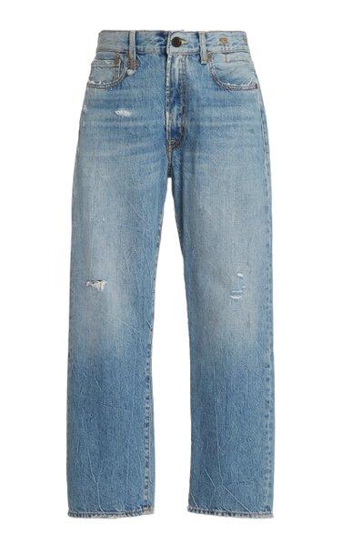 Straight-Leg Boyfriend Jean