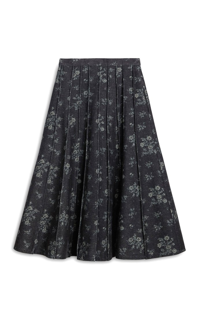 Soave Floral Cotton Midi Skirt