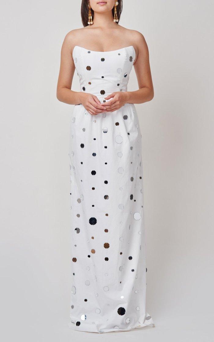 Evora Strapless Mirror Dress
