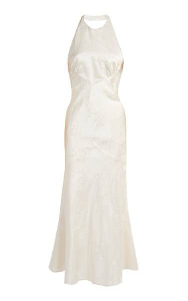 Cecelie Tie-Detailed Silk Midi Dress