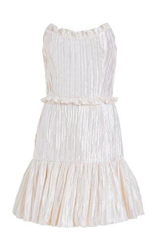 Hollis Pleated Ivory Mini Dress