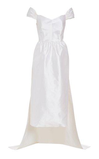 Celeste Off-The-Shoulder Silk Gown