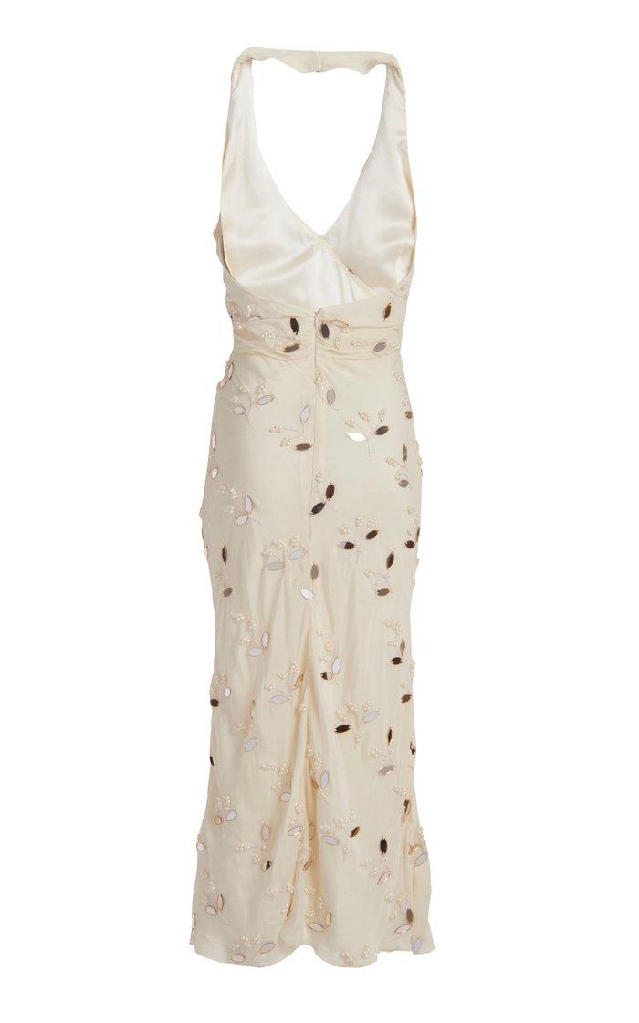 Linden Bias Halter Dress