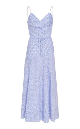 Nima Paisley Pleated Cotton Dress