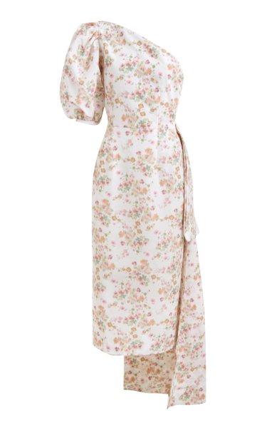 Laurel One-Shoulder Ikat Cady Dress