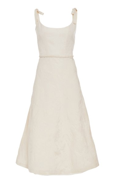Ornella Ivory Bias Corset Dress