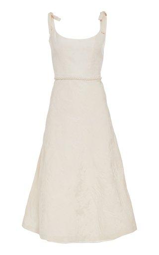 Ornella Bias-Cut Brocade Corset Dress