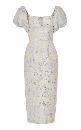 Yvette Off-The-Shoulder Jacquard Dress