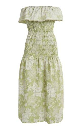 Ashton Printed Smocked Jersey Dress