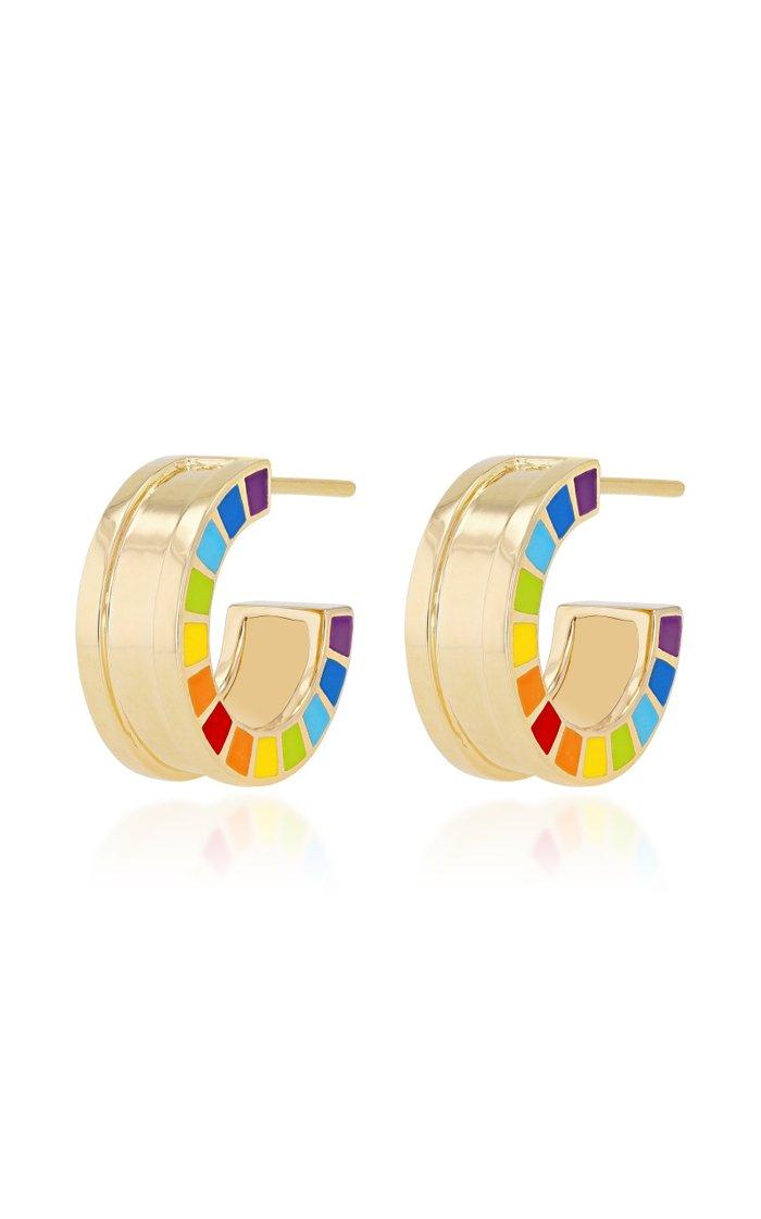 Me 18K Gold Enamel Earrings