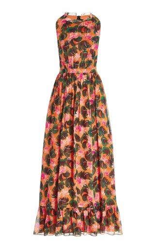 Agnes Printed Georgette Silk Dress