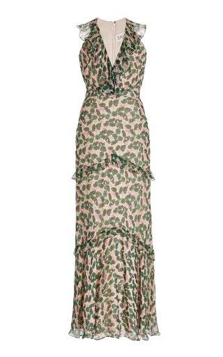 Rita Crinkled Printed Silk Dress